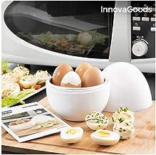 Innovagoods bb_V0101051 Cuit-œufs pour micro-ondes avec récipient Boilegg, blanc