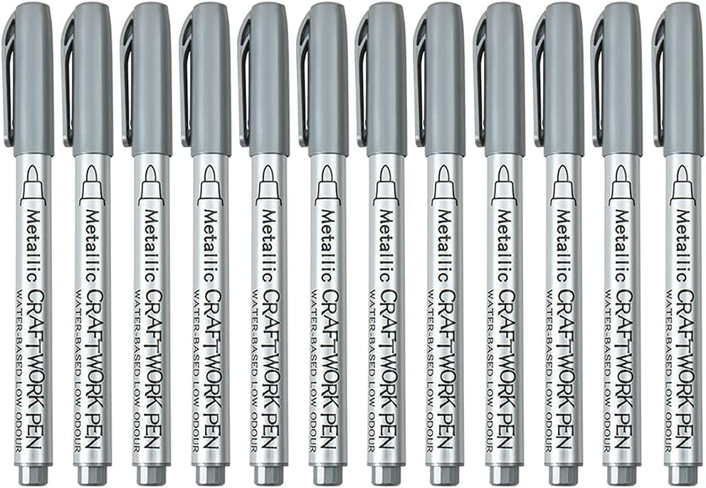 KerDejar 12 Pieces Acrylic Paint Pens Rock Stone Ceramic for Max 48% OFF Price reduction Gl