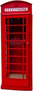 The Kings Bay Red British London Cast Aluminum Iron Telephone Phone Booth Replica English
