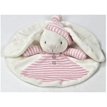 赤ちゃん 寝かしつけ用 くま うさぎ おしゃぶりタオル やわらか手触り ドゥドゥ (うさぎ)