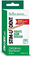 Stim-U-Dent Plaque Removers 24 Packs of 25 Picks/Pack (600 Picks) - Mint Flavor