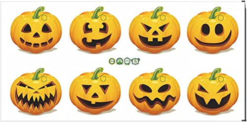 new arrival Halloween Pumpkin Wall Sticker - lowest Pumpkin Stickers Window Clings Haunting House Adhesive online Decor for Home Party Favor online sale
