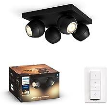 Philips Hue Buckram White Ambiance Reflektor punktowy LED, 4x źródło światła, szeroka paleta odcieni bieli + Bezprzewodowy...