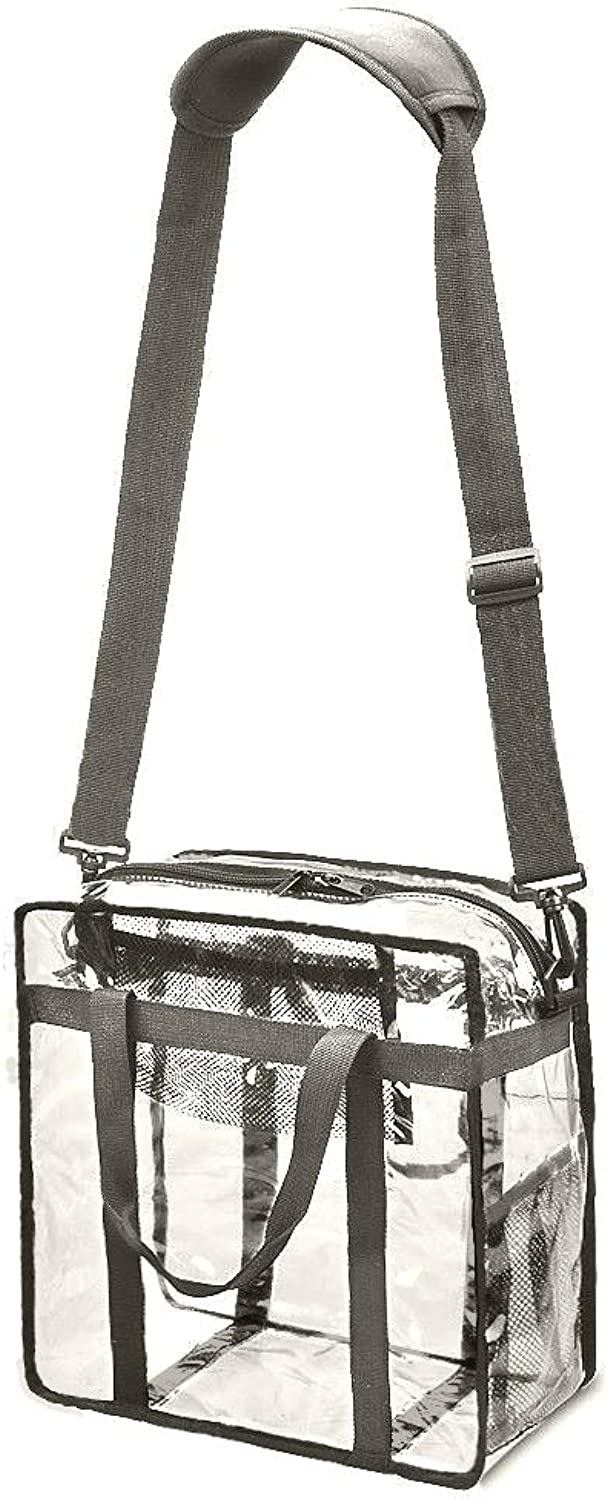 Planet Made Family HeavyDuty Clear Backpack, NFL Clear Stadium Bag with Extra Large Storage and Removeable Shoulder Strap for Men and Women.