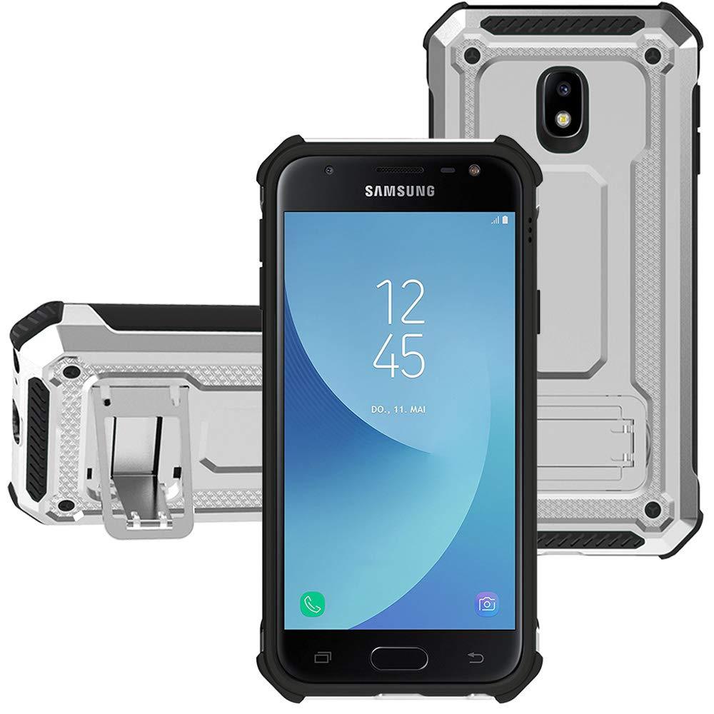 KUAWEI para Funda Samsung Galaxy J7 2017 Cover Samsung J7 2017 Funda Armadura Carcasa El Soporte Incorporado Doble Capa Armadura Proteccion Cover para Galaxy J7/J7 PRO/J730 2017 5.5