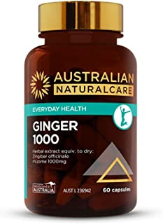 Australian NaturalCare - Everyday Health - Ginger 1000 Tablets (60 Count)