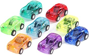IUASZZ 8 Pieces Pull Back Vehicles Multi-Colored Mini Transparent Plastic Toy Car Send Random for Kids Boys Birthday Gifts Party Supplies Games Accessories 5x3x2.5cm/1.97x1.18x0.98