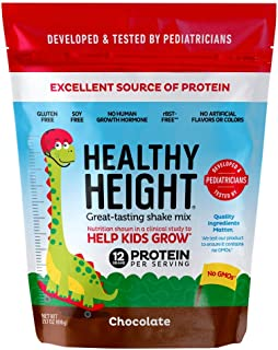 Healthy Height Kids Protein Powder (Chocolate) - Developed by Pediatricians - High in Protein Nutritional Shake to Supplem...