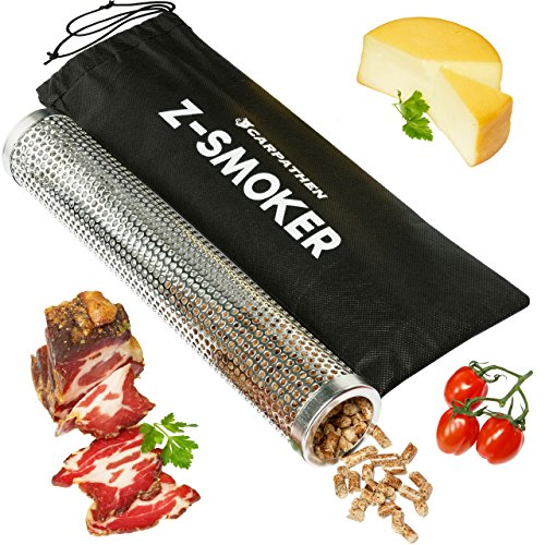 BBQ Pellet Smoker Tube 12 Inch - Delivers Additional Wood Smoke Flavor To Any Electric, Gas Charcoal or Pellet Grill - Perfect For Both Hot or Cold Smoking Meat, Cheese, Nuts and More!
