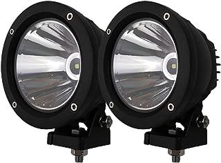 Audak 2Pcs 25W Spot Beam Round LED Work Light Driving Lights Spotlights for Off Road 4x4 Pickup Truck
