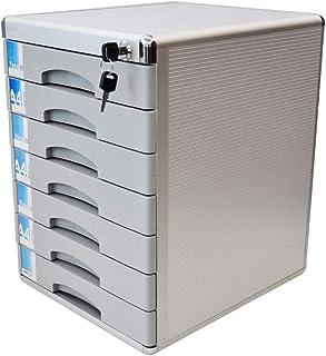 Classeur avec tiroir Armoire de bureau 7 tiroirs avec serrure H400xW36xL30mm en alliage d'aluminium armoire de rangement c...