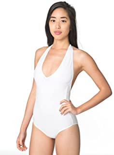 Cotton Spandex Jersey Halter One-Piece Leotard