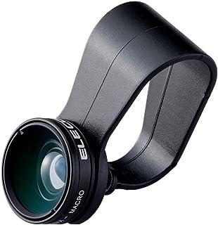 エレコム 自撮り セルカレンズ 0.67倍 広角レンズ マクロレンズ付 スマホ用 ブラック P-SL067BK