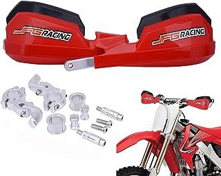 "Handguards Dirt Bike Hand Guards - Universal For 7/8"" And 1 1/8"" Handlebar - For Dirt Bike For Honda Yamaha Kawasaki Suzuki Motocross Enduro Supermoto(Red)"