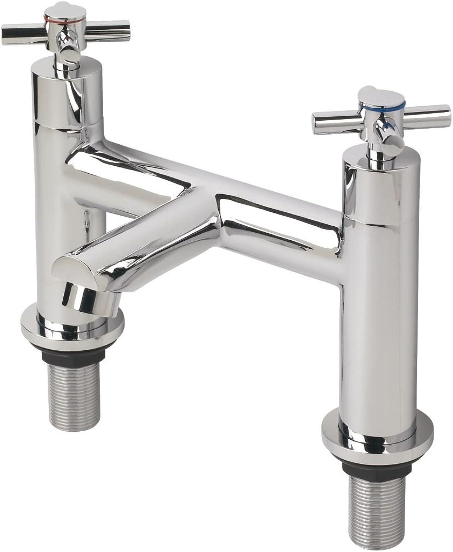 Swirl Minimalist Bath Filler Bathroom Taps Pair