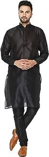 Men's Art Silk Kurta Pajama Set Indian Traditional Dress