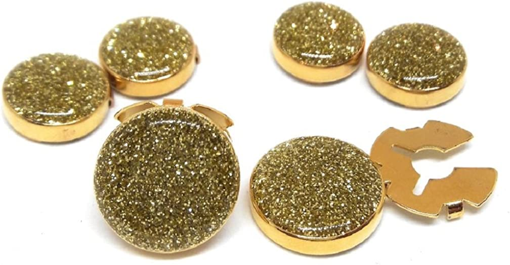 Menz Jewelry Accs Gold DUST Button Covers !! Manufacturers Direct Pricing!!
