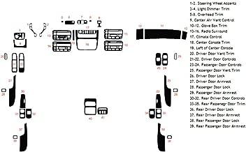 Rvinyl Rdash Dash Kit Decal Trim for Cadillac Deville 2000-2005 - Wood Grain (Mahogany)