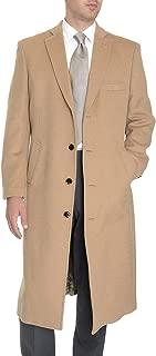 Men's Wool Cashmere Single Breasted Full Length Overcoat Topcoat