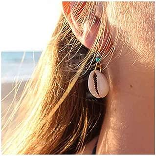 Olbye Cowrie Shell Earrings Turquoise Gold Earrings for Women and Girls Boho Earring Body Jewelry