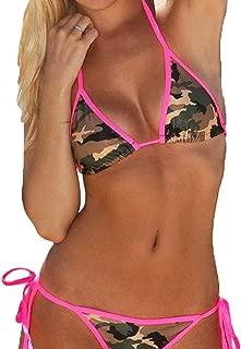 Camo & Hot Pink 2 Piece Women Bikini Swimwear Bathing Suit ~ Traje Trusa de Baño
