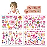 Tatuajes Temporales Para Niños Niñas, 8 Sheets 200+ Pcs Hojas Dibujos animados Tatuaje Falso Pegatinas Para piñata Niños infantiles fiesta de cumpleaños regalo Bolsas Relleno(barbie)