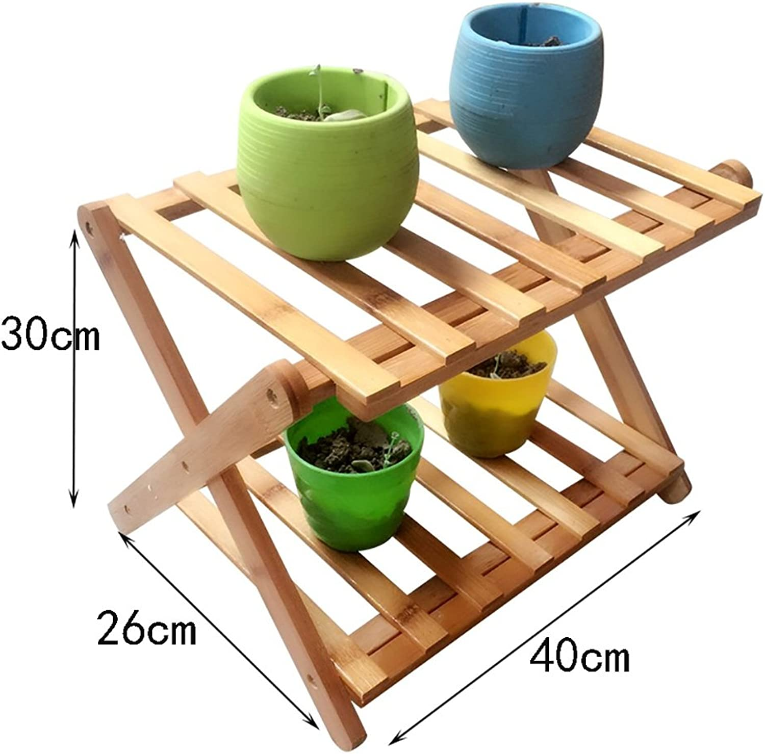shoes Bench Organizing Rack Bamboo shoes Shelf Folding shoes Rack Multilayer Simple shoes Shelf Economy Dormitory shoes Shelf (color   A)