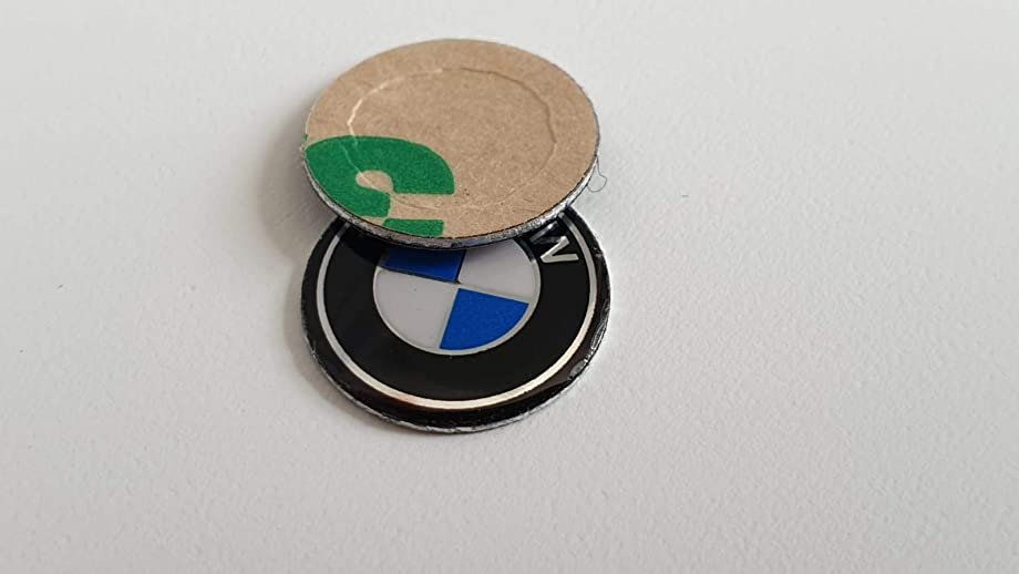 ESC EDP532FBA 2 Pieces Key Fob Remote Badge Logo Emblem Sticker Dia:11mm for BMW