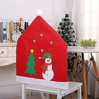 KSEM AT Best Design 1pcs Christmas Decoration Santa Claus Red Hat Chair Back Cover Dinner Table, Christmas Chair Covers - Holiday Chair Covers, Miniature Christmas Clause, Christmas Decorations