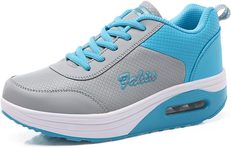 Enllerviid Women Lace Up Platform Fitness shoes Shape Ups Comfort Walking Running Sneakers