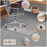 Chair Mat,Transparent Mats for Chairs, Floor Chair Mat, Premium Studded Chair Mat for Carpeted Floor, Heavy Duty & Easy Glide, Hard-Floor Protector with Lip for Floor-48x36inch