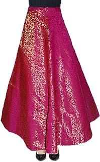 Mamta women's Db Enbloc Women's Umbrella Cut Skirt (Rani, Free Size)