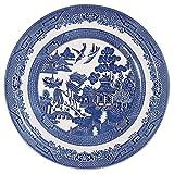 Churchill BLU Willow Mint - Plato de cena (cerámica, 26 x 26 x 1 cm), multicolor