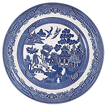 Churchill Blue Willow Plate 10   Set of 6