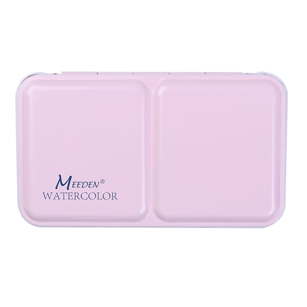 MEEDEN Empty Watercolor Tins Box Palette Paint Case, Small Pink Tin, Will Hold 12 Half Pans or 6 Full Pans
