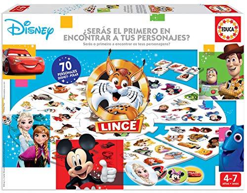 Educa Borrás-El Lince Edición 70 imágenes de personajes Disney, a partir de 4 años, color variado, Talla Única (18351) , color/modelo surtido