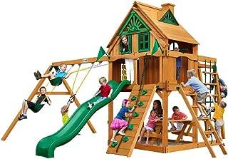 Gorilla Playsets Navigator Treehouse Swing Set w/Fort Add-On & Natural Cedar