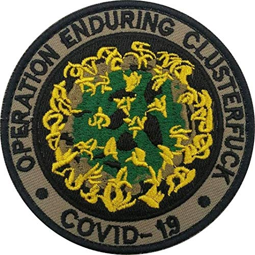 PatchClub Operation Enduring ClusterF Outbreak Team Response Patch Iron On/Sew On, Funny, Morale, Tactical, Military Patch - Perfect for Your Tactical Military Army Gear, Backpack, Cap, Vest