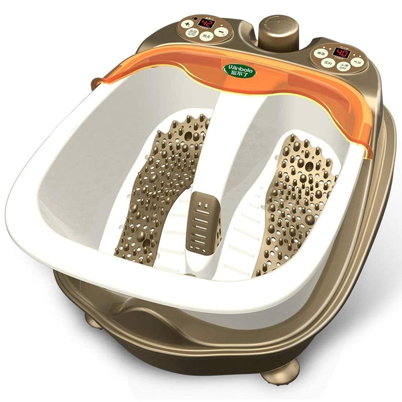 法律現象トラックZXvbyuff 自動フット指圧&温度制御&バブルマッサージエレクトリック足サロン浴槽を備えたフットスパバスマッサージ器 - 水の温度を維持&フットの圧力を軽減