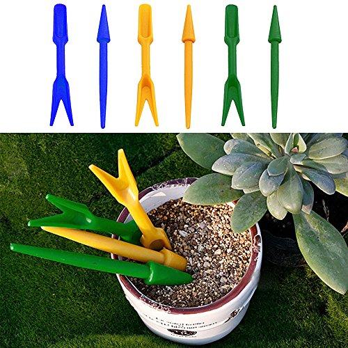 2 pcs/Ensemble de jardin semis outils portable Mini Légumes plantation creuser outils Plastique Hole Puncher DIG semis outils