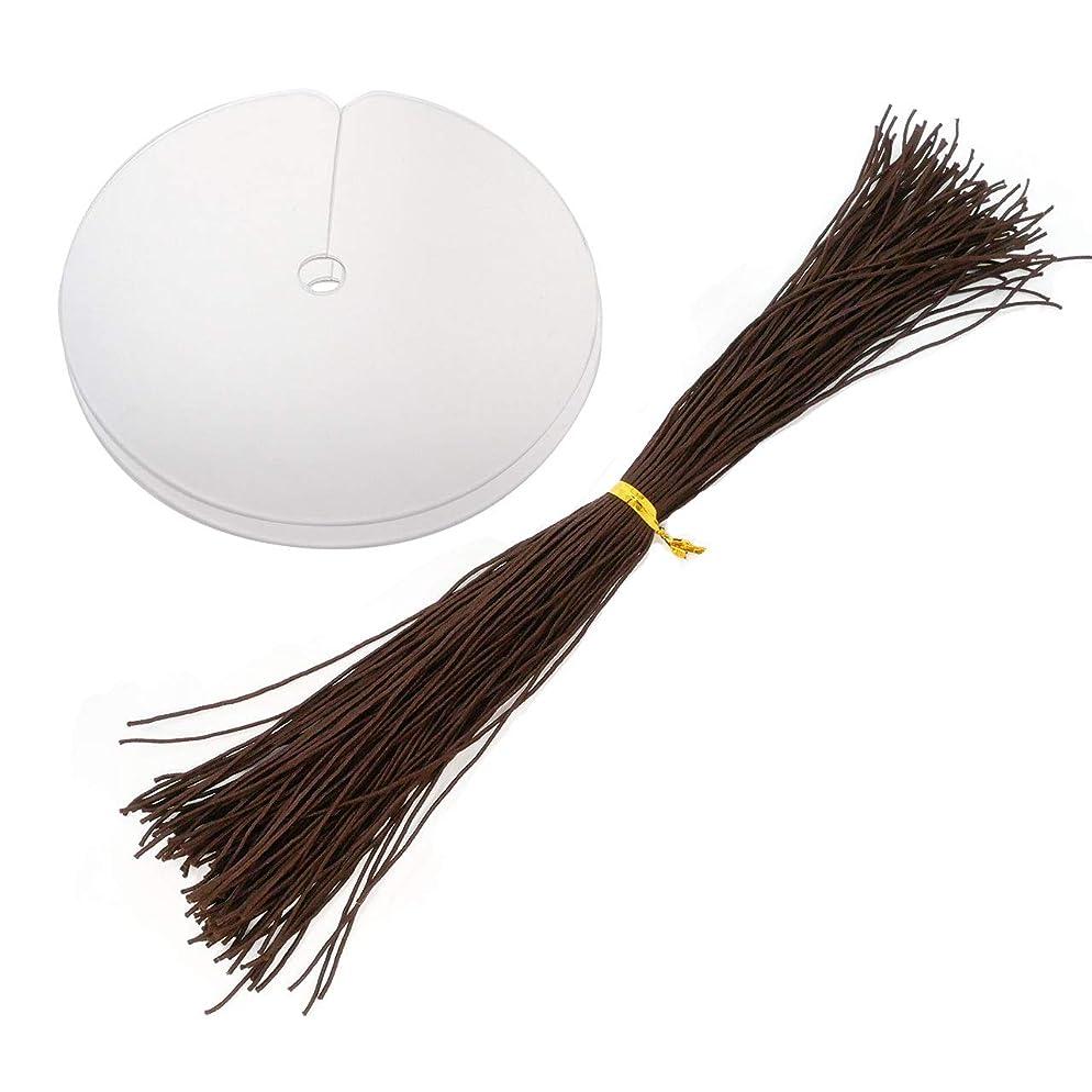 豊富に貫通不規則なエクステ ゴム 編み込み エクステ用 糸ゴム 25cmにカット済み 100本