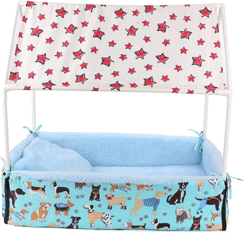Rimborsabile Pet Bed, Winter keep caldo grande Wasable Nest Pet Supplies, Indoor Use Kennel (colore: Blue)