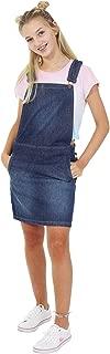 USKEES GEORGIA Short Denim Pinafore - Stonewash Dungaree Dress Bib Overall skirt
