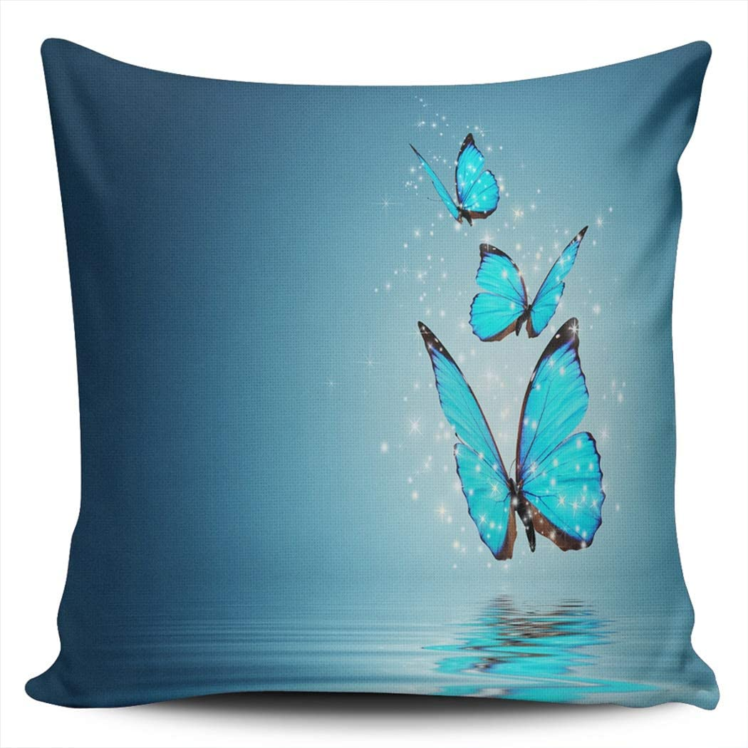 BBIE GODFR Decor Pillowcases Blue Magic Outlet sale feature Water Over Butterfly Omaha Mall Hid