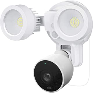 Wasserstein 3-in-1 Floodlight, Charger and Mount Compatible with Nest Cam Outdoor - Turn The Nest Cam Outdoor into a Powerful Floodlight (White) (Nest Cam Outdoor NOT Included)