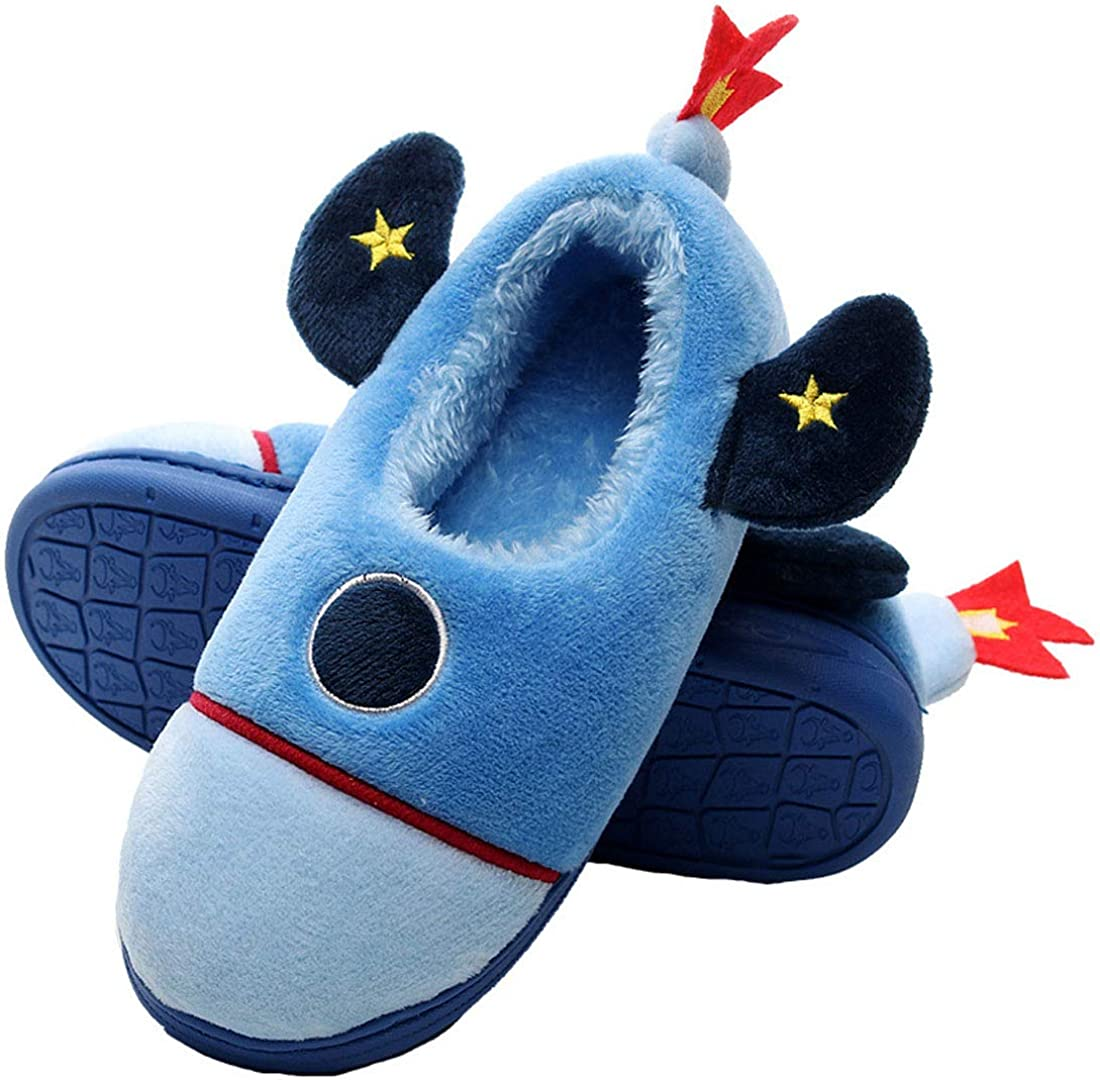 Boys Girls Warm Slippers Shoes Kids Cartoon Animal Winter Indoor Household Shoes