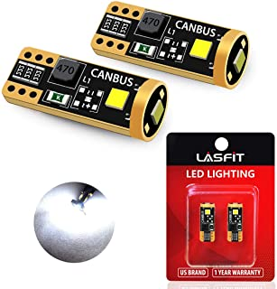 LASFIT 194 168 2825 W5W LED Bulb Canbus Error Free, T10 LED Bulbs 400LM 6000K for Dome..