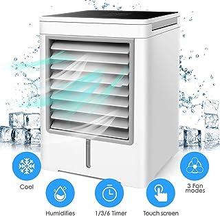DAI QI Espacio portátil aparato de aire acondicionado, refrigerador de aire personal - 3 en 1 Acondicionador de aire, purificador, esterilizador, humidificador Mini USB, ventilador de escritorio con 3