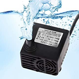 SunGrow Submersible Aquarium Water Pump, 3 Watts, Comes with 5.9-Foot Power Cord, Hydrodynamic Design, Perfect for Both Freshwater and Saltwater Tanks, Maximum Flow Rate of 53 GPH
