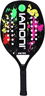 ianoni Beach Tennis Racket, Carbon Fiber Grit Face with EVA Memory Foam Core Beach Tennis Racket